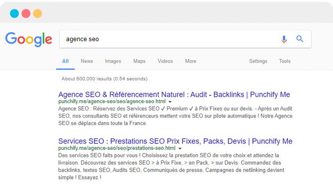 Avec le SEO, vous pouvez arriver dans les premières positions de Google pour votre site web